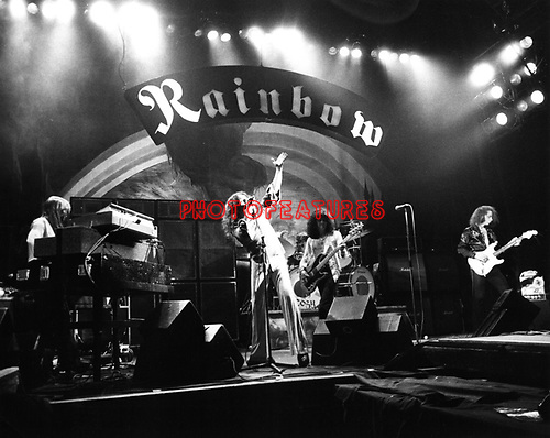 Rainbow 1976 Ronnie James Dio and Ritchie Blackmore.© Chris Walter.