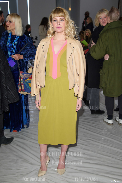 Hannah Arterton at the Jasper Conran show as part of London Fashion Week, London, UK. <br /> 17 February  2018<br /> Picture: Steve Vas/Featureflash/SilverHub 0208 004 5359 sales@silverhubmedia.com