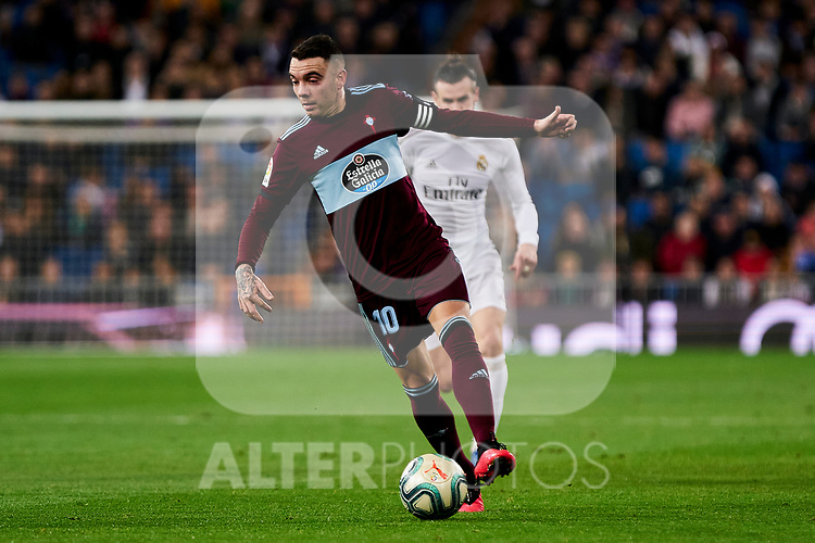 Iago Aspas of RC Celta de Vigo during La Liga match between Real Madrid and RC Celta de Vigo at Santiago Bernabeu Stadium in Madrid, Spain. February 16, 2020. (ALTERPHOTOS/A. Perez Meca)