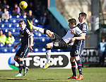 Ross County v St Johnstone…..30.04.16  Global Energy Stadium, Dingwall<br />Graham Cummins and Paul Quinn<br />Picture by Graeme Hart.<br />Copyright Perthshire Picture Agency<br />Tel: 01738 623350  Mobile: 07990 594431
