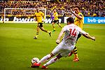 11.05.2019, Signal Iduna Park, Dortmund, GER, 1.FBL, Borussia Dortmund vs Fortuna Düsseldorf, DFL REGULATIONS PROHIBIT ANY USE OF PHOTOGRAPHS AS IMAGE SEQUENCES AND/OR QUASI-VIDEO<br /> <br /> im Bild | picture shows:<br /> Markus Suttner (Fortuna #14) klärt vor Thomas Delaney (Borussia Dortmund #6), <br /> <br /> Foto © nordphoto / Rauch