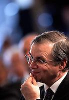 Il nuovo Governatore della Banca d'Italia Ignazio Visco prende parte alla cerimonia per l'87esima Giornata Mondiale del Risparmio, a Roma, 26 ottobre 2011..Bank of Italy's new Governor Ignazio Visco takes part in the 87th World Saving Day ceremony in Rome, 26 october 2011..UPDATE IMAGES PRESS/Riccardo De Luca