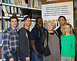 """Rehearsals for Ragtime starring One Life To Live Kerry Butler """"Claudia Reston"""" (green), Matt Cavenaugh (also As The World Turns """"Adam Munson"""") (L), General Hospital Tyne Daly """"Caroline"""", Jarrod Emick (2nd L), Phillip Boykin (middle), Jose Llana (back R) on February 11, 2013 for a concert at Avery Fisher Hall, New York City, New York on Monday February 18, 2013. (Photo by Sue Coflin/Max Photos)"""