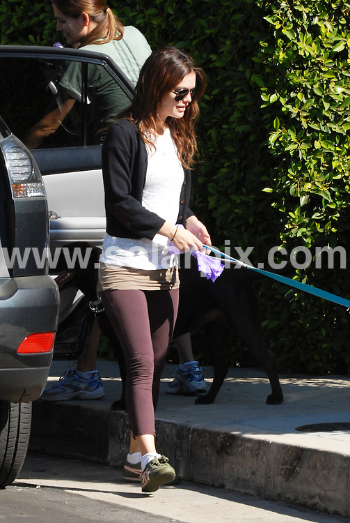 **ALL ROUND PICTURES FROM SOLARPIX.COM**.**WORLDWIDE SYNDICATION RIGHTS**.**NO PUBLICATION IN AUSTRALIA, NEW ZEALAND, DENMARK, GERMANY OR USA**.The Hollywood actress Rachel Bilson has a fun day with her dogs at a nature trail in Griffith Park Los Angeles and shows just how much she cares for them as she attends to their every need ..JOB REF:7752-LAP/NB       DATE:29-10-08 .**MUST CREDIT SOLARPIX.COM OR DOUBLE FEE WILL BE CHARGED* *UNDER NO CIRCUMSTANCES IS THIS IMAGE TO BE REPRODUCED FOR ANY ONLINE EDITION WITHOUT PRIOR PERMISSION*