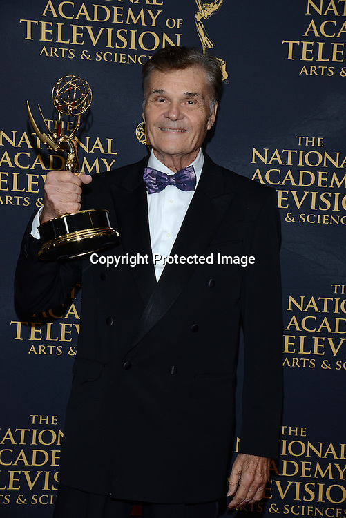 Fred Willard  winner for guest star attends the Daytime Emmy Creative Arts Awards Press Room on April 24, 2015 at the Universal l Hilton in Universal City,<br /> California, USA.