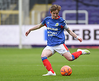 20190813 - ANDERLECHT, BELGIUM : Linfield's Kirsty McGuinness pictured during the female soccer game between the Belgian RSCA Ladies – Royal Sporting Club Anderlecht Dames  and the Northern Irish Linfield ladies FC , the third and final game for both teams in the Uefa Womens Champions League Qualifying round in group 8 , Tuesday 13 th August 2019 at the Lotto Park Stadium in Anderlecht  , Belgium  .  PHOTO SPORTPIX.BE   DIRK VUYLSTEKE