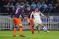 Nabil Fekir of Lyon takes on Manchester City's Aymeric Laporte during Lyon vs Manchester City, UEFA Champions League Football at Groupama Stadium on 27th November 2018