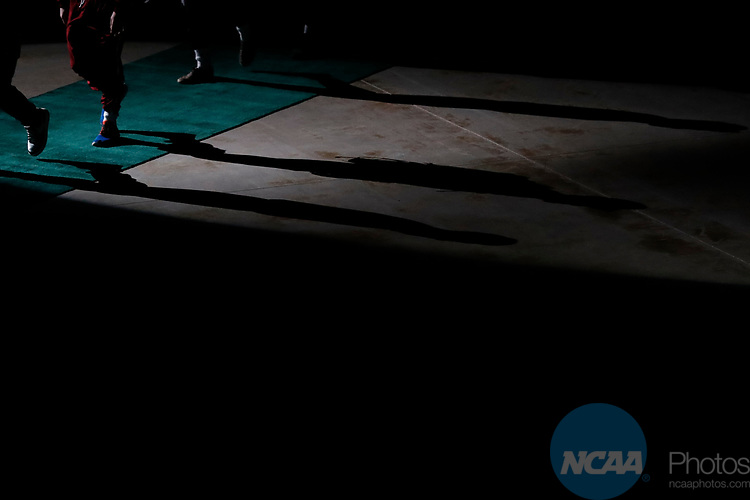 LA CROSSE, WI - MARCH 11: Wrestlers take the stage during the Division III Men's Wrestling Championship held at the La Crosse Center on March 11, 2017 in La Crosse, Wisconsin. (Photo by Carlos Gonzalez/NCAA Photos via Getty Images)