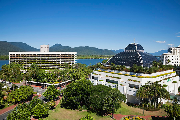 The Hilton Hotel and Reef Hotel Casino.   Cairns, Queensland, Australia