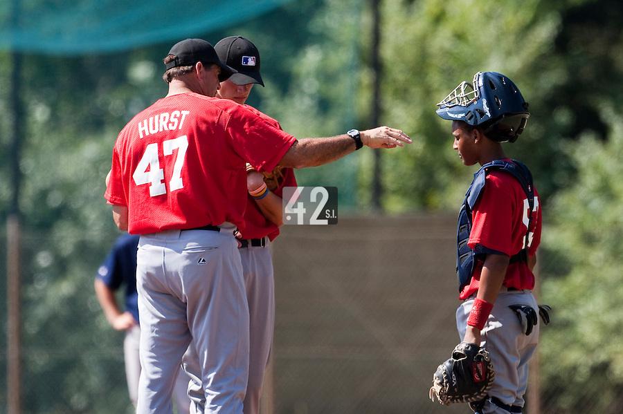 Baseball - MLB European Academy - Tirrenia (Italy) - 21/08/2009 - Bruce Hurst, Scott Ronnenbergh, Andy Paz