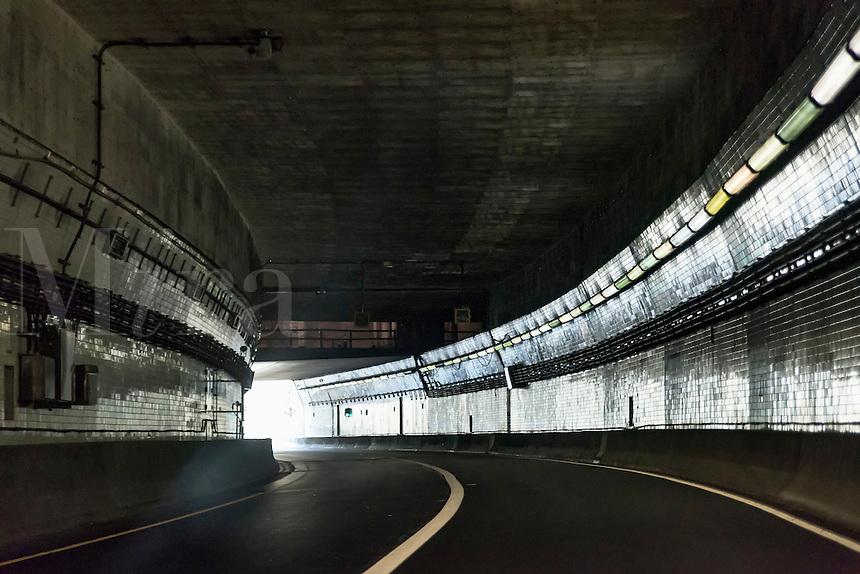 Tunnel on the Chesapeake Bay Bridge, Maryland, USA