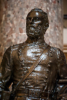 This statue of United States Representative Joseph Wheeler (Democrat of Alabama) was given to the National Statuary Hall Collection by the State of Alabama in 1925 and stands in Statuary Hall in the US Capitol in Washington, DC., Friday, July 31, 2020.  Wheeler was graduate of the US Military Academy (West Point) and served as an American military commander and politician who fought for two different armies in two different wars: for the Confederate States Army in the Civil War and for the United States Army in the Spanish–American War. He also served in the US House of Representatives from 1883 to 1900.  <br /> Credit: Rod Lamkey / CNP /MediaPunch