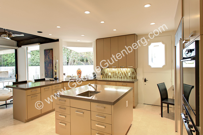 Stock photo of residential kitchen Ultra modern kitchen in ...