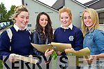 Junior Cert student from Presentation Secondary, Tralee after receiving their results on Wednesday from left Amy Jordan, Clo?da Curran, Grainne O'Carroll and E?adaoin McGinley.