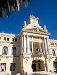 Malaga City Hall building, Malaga, Spain designed by Fernando Guerrero Strachan and Manuel Rivera Vera completed 1919.