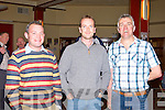 Brian Regan, Matt Lacey and Joe Flynn Killarney watching John Higgins and Shaun Murphy snooker tie at the INEC on Sunday