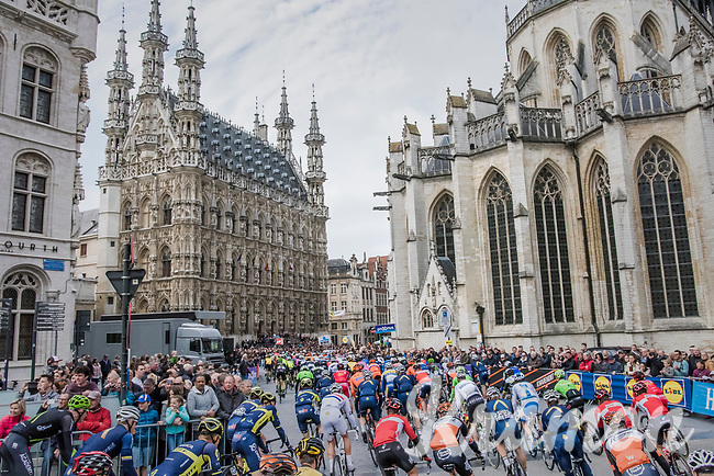 local start lap in Leuven passed the historical city hall<br /> <br /> 57th Brabantse Pijl - La Fl&egrave;che Braban&ccedil;onne (1.HC)<br /> 1 Day Race: Leuven &rsaquo; Overijse (197km)