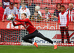 Aaron Ramsdale of Sheffield Utd during the League One match at Bramall Lane Stadium, Sheffield. Picture date: September 17th, 2016. Pic Simon Bellis/Sportimage
