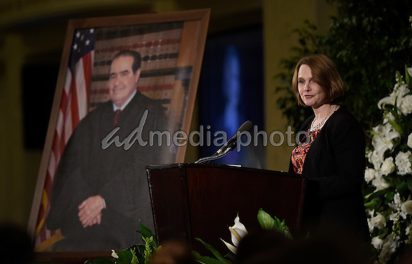 Memorial service for the late Associate Justice of the Supreme Court Antonin Scalia at the Mayflower Hotel in Washington, DC, Tuesday, March 1, 2016. Photo Credit: Susan Walsh/CNP/AdMedia