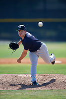 New York Yankees pitcher Trevor Lane (3) during a Minor League Spring Training game against the Toronto Blue Jays on March 18, 2018 at Englebert Complex in Dunedin, Florida.  (Mike Janes/Four Seam Images)