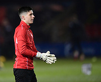 Lincoln City's Michael Antkowiak during the pre-match warm-up<br /> <br /> Photographer Chris Vaughan/CameraSport<br /> <br /> The EFL Sky Bet League Two - Lincoln City v Cheltenham Town - Tuesday 13th February 2018 - Sincil Bank - Lincoln<br /> <br /> World Copyright &copy; 2018 CameraSport. All rights reserved. 43 Linden Ave. Countesthorpe. Leicester. England. LE8 5PG - Tel: +44 (0) 116 277 4147 - admin@camerasport.com - www.camerasport.com