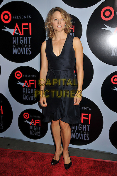 "JODIE FOSTER .AFI's ""Night at the Movies"" Presented by Target at ArcLight Cinemas, Hollywood, California, USA..October 1st, 2008.full length blue black dress sleeveless .CAP/ADM/BP.©Byron Purvis/AdMedia/Capital Pictures."