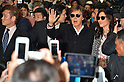Paul Mccartney and wife Nancy arrive at Kansai International Airport in Japan