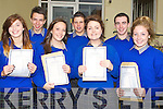 .HAPPY: Happy faces at Presentation Secondry School, Miltown as pupils got their Junior Cert results, Front: l-r: Aoife Murphy (Listry), Aoife O'Mahony (Faha,Joanne Browne (Firies) and sarah Sheehan (Glenbeigh) Back l-r: Chris Doncel (Ballyhar), Darragh O'Shea (Listry) and Gavin Evans (Keel)..........