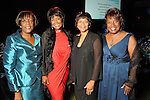 From left: Loretta Watie, Margaret Avery, Myrtis Hall and Eileen J. Morris at the Ensemble Theatre's 2010 Black Tie Gala at the Hilton Americas Houston Saturday Aug. 14,2010.(Dave Rossman/For the Chronicle)