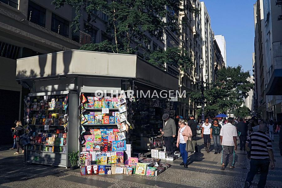 Banca de jornal na Rua Barao de Itapetininga em Sao Paulo. 2017. Foto © Juca Martins.