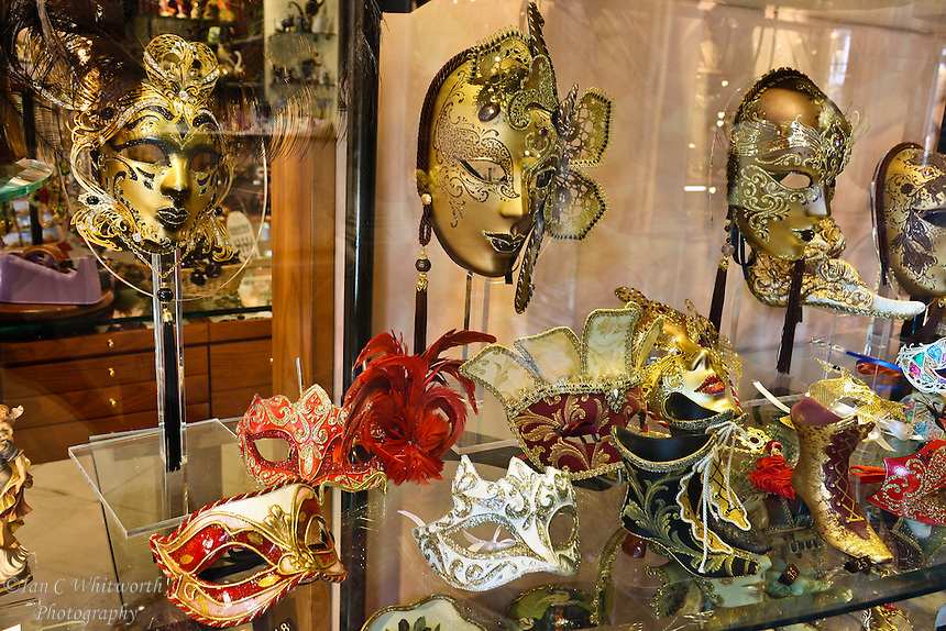 Venice masks in a shop window