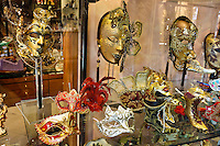 Venice masks in a shop window
