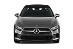 Car photography straight front view of a 2019 Mercedes Benz A-Class A-200 4 Door Sedan Front View
