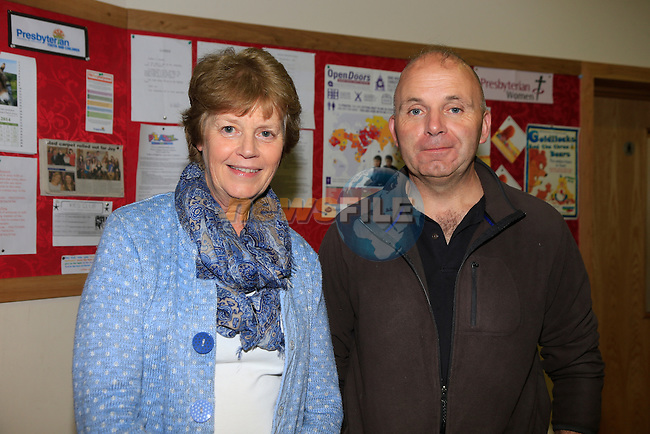 Sandra Woodside and Ray Reynolds at Drogheda Presbyterian Church<br /> Picture: www.newsfile.ie