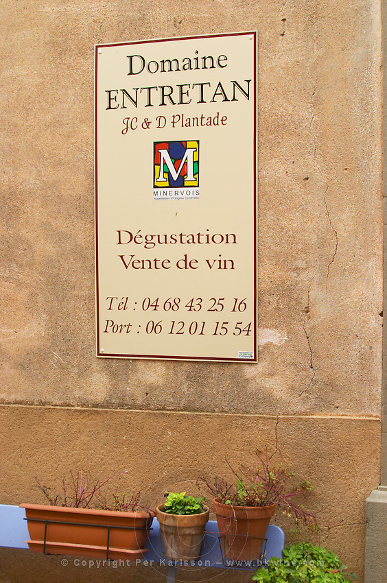 Domaine Entretan, J-C and D Plantade in Roubia. Minervois. Languedoc. France. Europe.