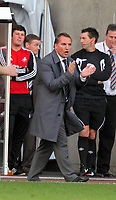 Pictured: Brendan Rodgers manager for Swansea. Saturday 17 September 2011<br /> Re: Premiership football Swansea City FC v West Bromwich Albion at the Liberty Stadium, south Wales.