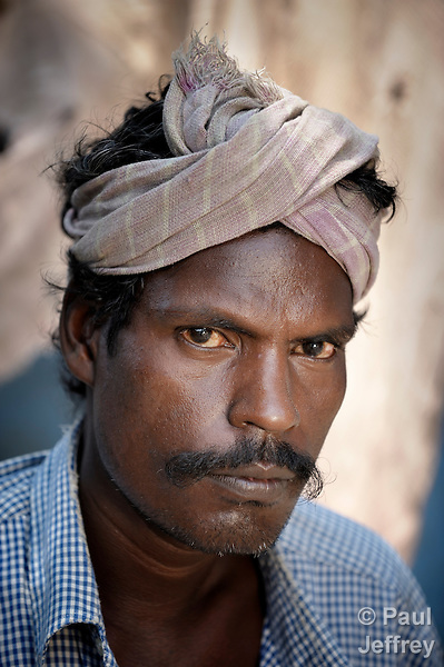 Gopal is a fisher in Nandambakkam, a tribal village in the southern India state of Tamil Nadu.
