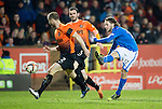 Dundee United v St Johnstone...12.03.14    SPFL<br /> Stevie May scores the only goal of the game<br /> Picture by Graeme Hart.<br /> Copyright Perthshire Picture Agency<br /> Tel: 01738 623350  Mobile: 07990 594431