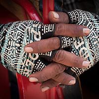 Hands of a Tuk Tuk driver, Battambang, Cambodia