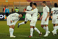 """Esultanza dopo il gol di Miroslav KLOSE Lazio.Goal celebration.Lecce 10/12/2011 Stadio """"Via del MAre"""".Football Calcio Serie A 2011/2012.Lecce Vs Lazio.Foto Insidefoto ."""
