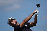 Abraham Ancer (MEX) in action during the final round of the Northern Trust played at Liberty National Golf Club, Jersey City, USA. 11/08/2019<br /> Picture: Golffile | Phil INGLIS<br /> <br /> All photo usage must carry mandatory copyright credit (© Golffile | Phil INGLIS)
