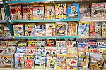 Display racks of UK consumer magazines