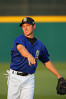 April 15 2009: Andrew Romine of the Rancho Cucamonga Quakes before game against the Visalia Rawhide at The Epicenter in Rancho Cucamonga,CA.  Photo by Larry Goren/Four Seam Images