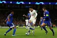 26th November 2019; Tottenham Hotspur Stadium, London, England; UEFA Champions League Football, Tottenham Hotspur versus Olympiacos; Dele Alli of Tottenham Hotspur is surrounded by Olympiakos players