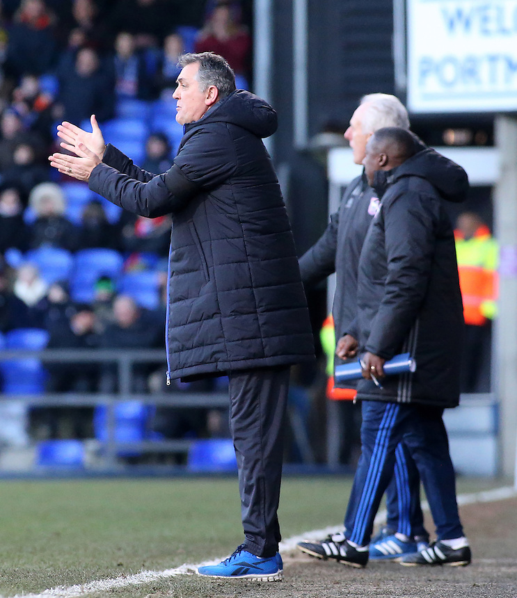 Blackburn Rovers manager Owen Coyle shouts instructions to his team from the touchline<br /> <br /> Photographer David Shipman/CameraSport<br /> <br /> The EFL Sky Bet Championship - Ipswich Town v Blackburn Rovers - Saturday 14th January 2017 - Portman Road - Ipswich<br /> <br /> World Copyright &copy; 2017 CameraSport. All rights reserved. 43 Linden Ave. Countesthorpe. Leicester. England. LE8 5PG - Tel: +44 (0) 116 277 4147 - admin@camerasport.com - www.camerasport.com