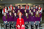 Pupils from Gaelscoil Fathleann NS pupils with Bishop Ray Browne Fr Kieran O'Brien, Fr Niall Howard, Fr PadTomas O Murchu and Proncias MacCurtain at their Confirmation in Church of the Ressurection on Friday