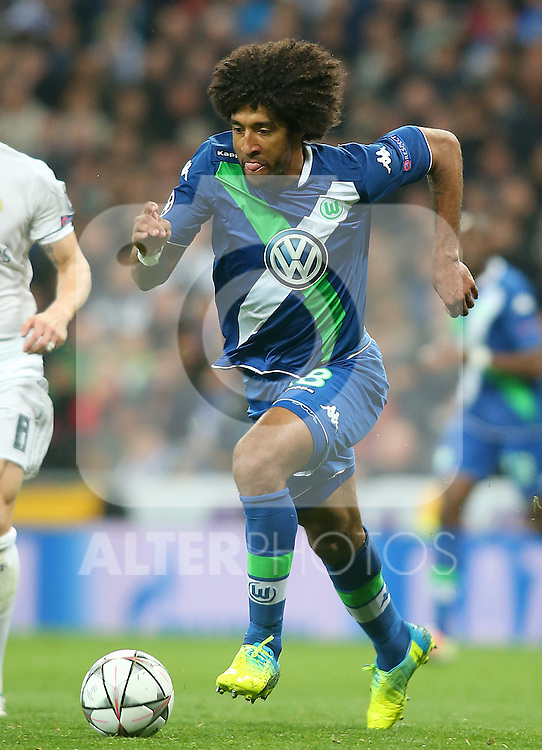 WfL Wolfsburg's Dante during Champions League 2015/2016 Quarter-finals 2nd leg match. April 12,2016. (ALTERPHOTOS/Acero)