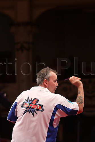 24.07.2011 World Match Play Darts from the Winter Gardens in Blackpool. Phil Taylor in action against James Wade in the Final.