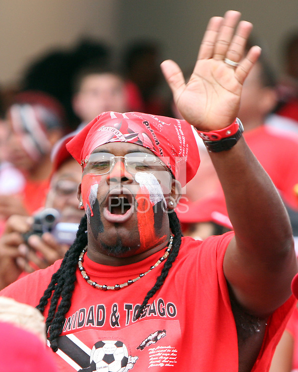 Trinidad fan. England defeated Trinidad & Tobago 2-0 in their FIFA World Cup group B match at Franken-Stadion, Nuremberg, Germany, June 15 2006.