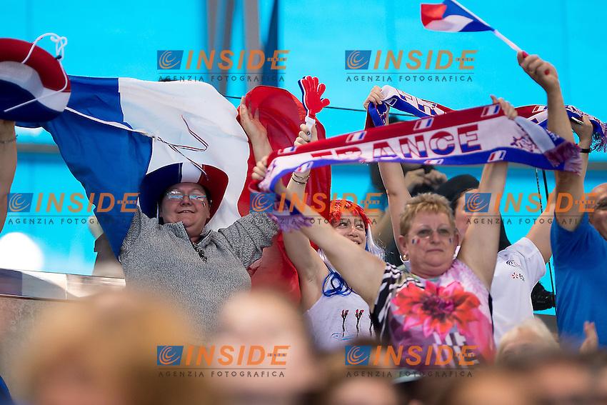french supporters <br /> London, Queen Elizabeth II Olympic Park Pool <br /> LEN 2016 European Aquatics Elite Championships <br /> Mixed duet free<br /> Day 03 11-05-2016<br /> Photo Giorgio Scala/Deepbluemedia/Insidefoto